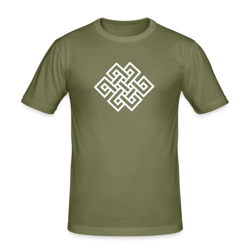 endless knot 1c + free tibet - Männer Slim Fit T-Shirt