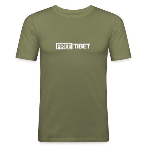 Free Tibet - Männer Slim Fit T-Shirt