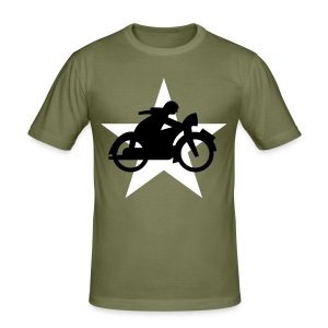 Cycle White Star - Männer Slim Fit T-Shirt