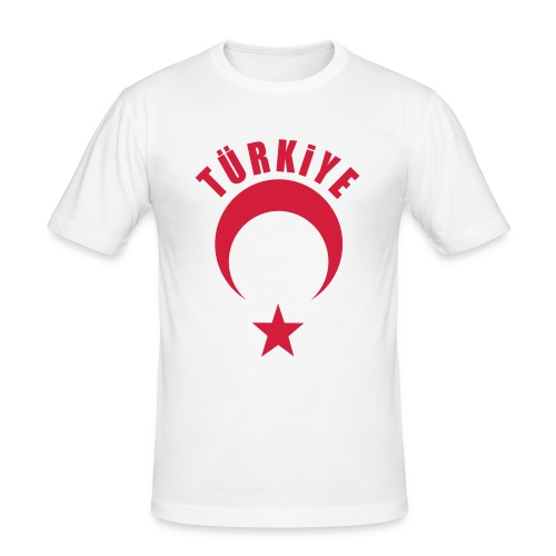 Türkiye Shirt Erkek Beyaz - Männer Slim Fit T-Shirt