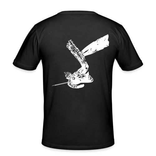 Eco-maglietta nera - Maglietta aderente da uomo
