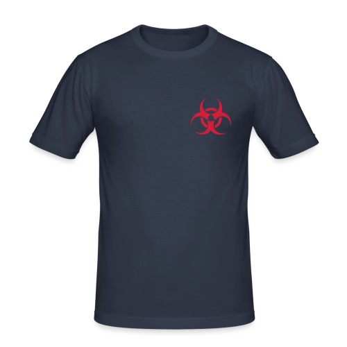 Dark navy Biohazard T-Shirt - Männer Slim Fit T-Shirt