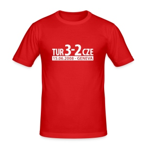 Türkei vs Tschechien - Männer Slim Fit T-Shirt