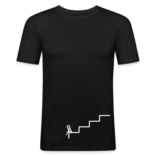 Die Treppe Schwarz - Männer Slim Fit T-Shirt