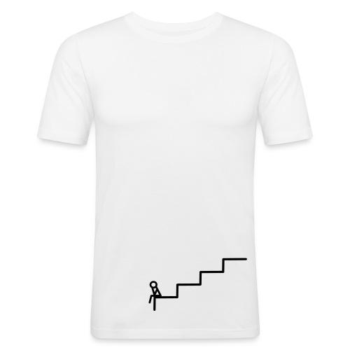 Die Treppe Weiß - Männer Slim Fit T-Shirt