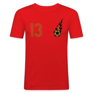 TRISTESSA 13 (Home - Gold) - Männer Slim Fit T-Shirt