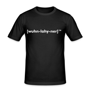 One-liner textloggo horizontal M - Slim Fit T-shirt herr