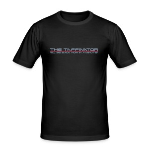 "Taffinator BLACK Slim ""Minute"" - Men's Slim Fit T-Shirt"