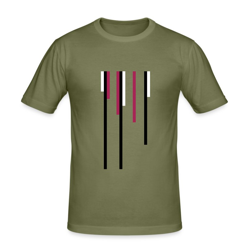 Abstract Lines - Men's Slim Fit T-Shirt