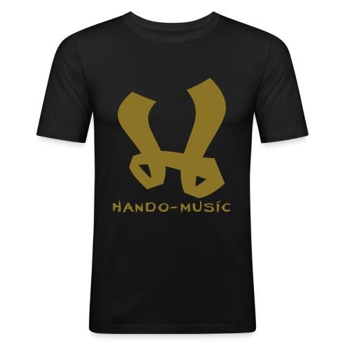 """T-Shirt """"Hando-Music"""" (schwarz/gold) - Männer Slim Fit T-Shirt"""