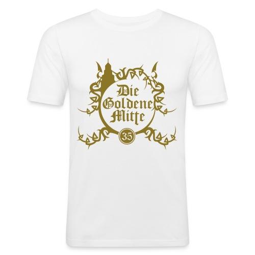 """T-Shirt """"DGM"""" (weiß/gold) - Männer Slim Fit T-Shirt"""
