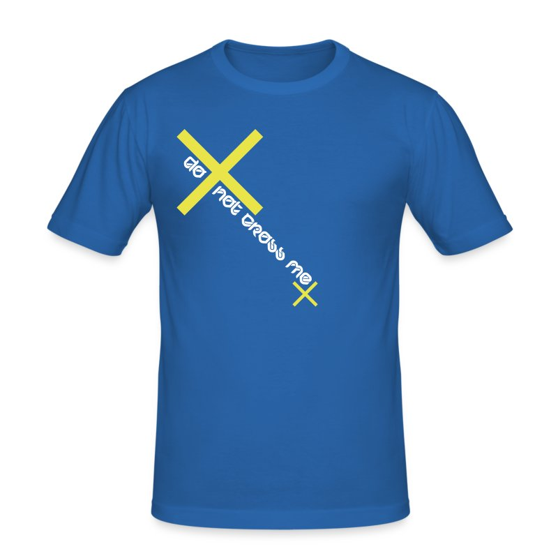 do not cross me (m) - Männer Slim Fit T-Shirt
