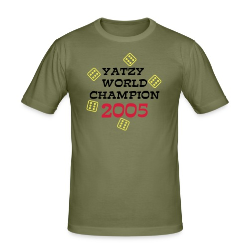 Yatzy World Champion - Herre Slim Fit T-Shirt