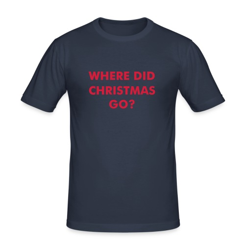 Where did christmas go? - Slim Fit T-skjorte for menn