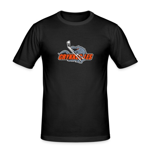Logo t- shirt m. rygtekst - Herre Slim Fit T-Shirt