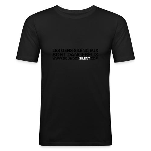Les gens silencieux... phospho - T-shirt près du corps Homme