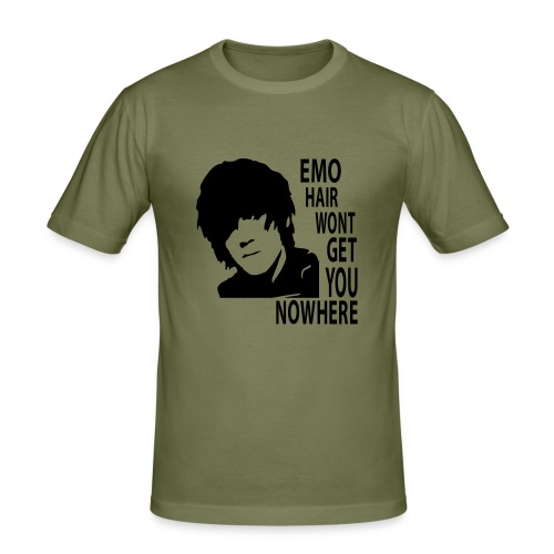 Emo Hair Won't get You Nowhere - Men's Slim Fit T-Shirt