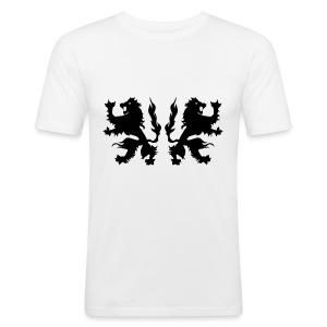 Double Lions - Black print - Men's Slim Fit T-Shirt