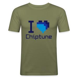 I love chiptune (men's) - Men's Slim Fit T-Shirt