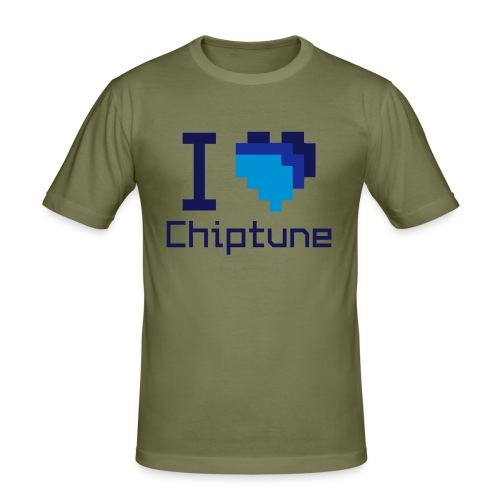 I love chiptune (men's) - Men's Slim Fit T-Shirt