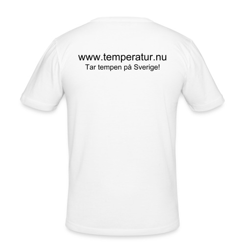 Temperatur.nu Slim-Fit Tshirt Vit - Slim Fit T-shirt herr