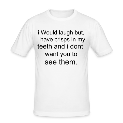 Funny crisps and teeth - Men's Slim Fit T-Shirt