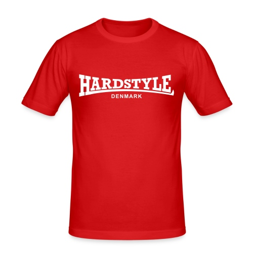 Hardstyle Denmark - White - Men's Slim Fit T-Shirt