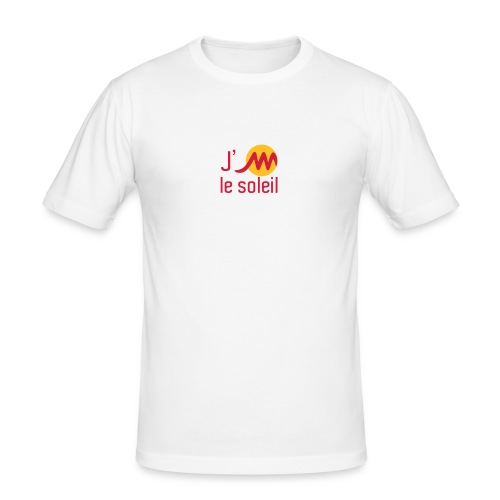 Près du corps H  blanc J'M le soleil - T-shirt près du corps Homme
