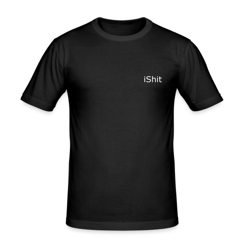 "Slim Shirt ""iShit"" - Männer Slim Fit T-Shirt"