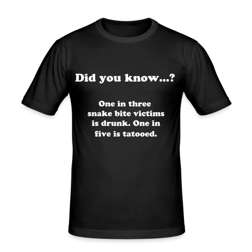 Did you know..? snake bite victims - Slim Fit T-skjorte for menn