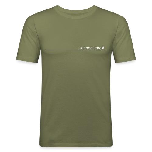 schneeliebe 01, buben - Men's Slim Fit T-Shirt