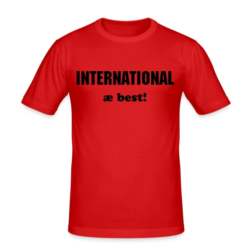 International - Slim Fit T-skjorte for menn