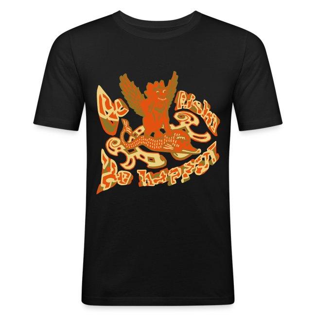 Go fish! Be happy!, slimfit t-shirt