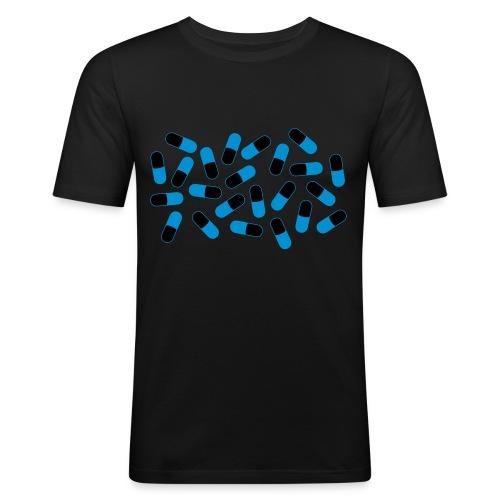 Pills Pattern - Men's Slim Fit T-Shirt
