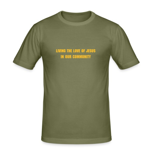 love of jesus Men's Shirt Olive - Men's Slim Fit T-Shirt