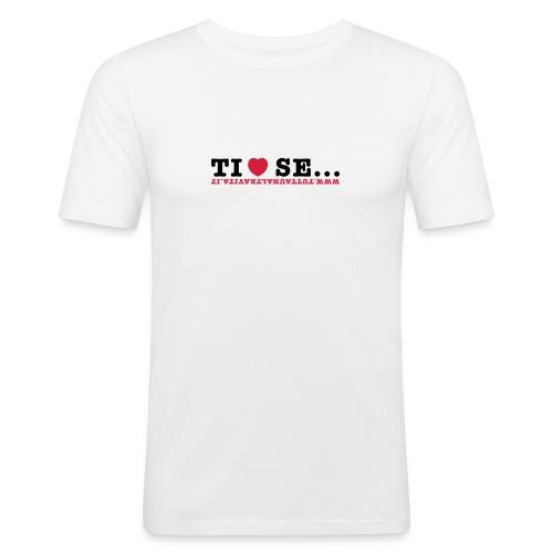 Tshirt uomo slim fit Ti amo se - Maglietta aderente da uomo