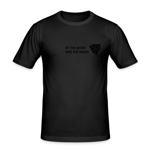 Black on Black - or choose another colour shirt - Men's Slim Fit T-Shirt