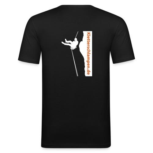 T-Schirt schwarz/weiß - Männer Slim Fit T-Shirt