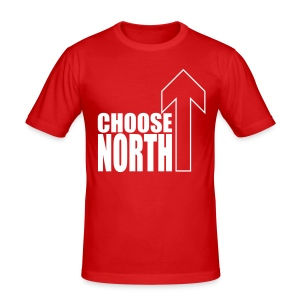 Choose North - Men's Slim Fit T-Shirt