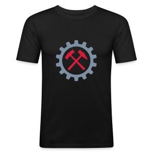 Schlegel Zahnrad - Männer Slim Fit T-Shirt