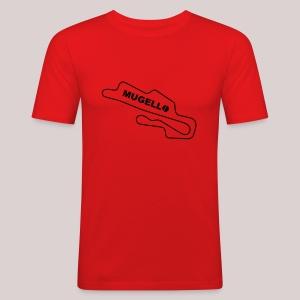 Race Track Mugello Ducati Rot/Schwarz - Männer Slim Fit T-Shirt