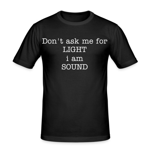 Ron's Wear (Men)don't ask me black/white - slim fit T-shirt