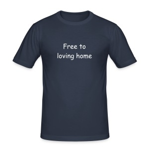 free to loving home - Men's Slim Fit T-Shirt