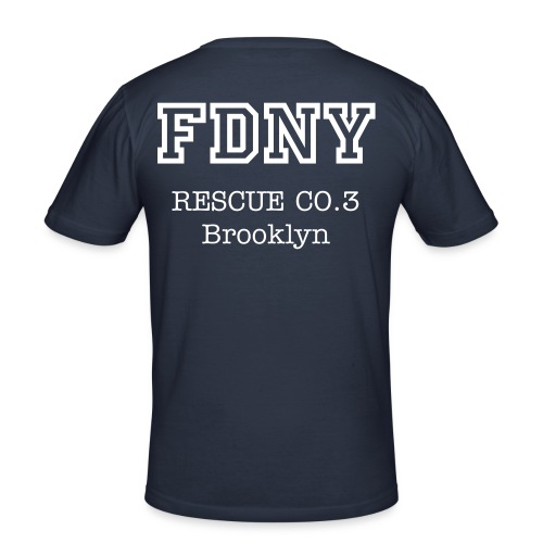 FDNY-Dienst-shirt - Männer Slim Fit T-Shirt