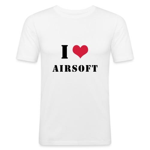 I Love Airsoft - T-shirt près du corps Homme