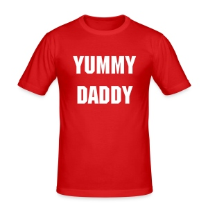 Yummy Daddy - Red - Men's Slim Fit T-Shirt