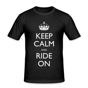 Men's Slim Fit T-Shirt - rider,ride,motorcycle,motorbike,keep calm,biker,bike