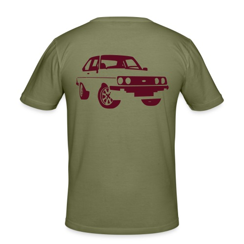 Escort RS MKII bourgogne - Men's Slim Fit T-Shirt