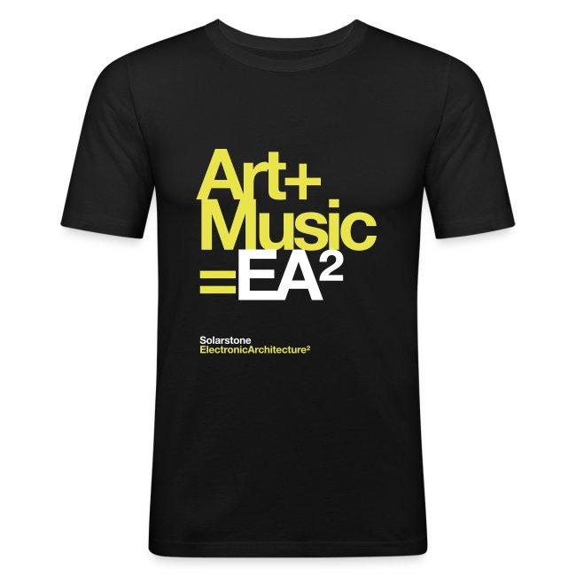 Mens Slim Fit EA2 'Art + Music' Tshirt