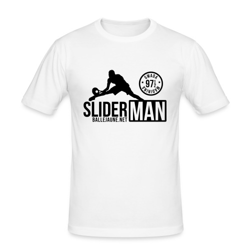 SliderMan 971/972 Simple Blanc T-shirt (flex1c) - T-shirt près du corps Homme